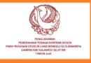 Penerimaan Tenaga Kontak Dosen PDD ISI Surakarta Tahun 2018