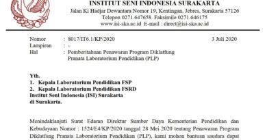 Penawaran Program Diklatfung Pranata Laboratorium Pendidikan (PLP)