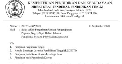 Pengiriman Usulan Pengangkatan  Pegawai Negeri Sipil Dalam Jabatan  Fungsional Melalui Penyesuaian/Inpassing